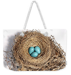 Robins Nest With Eggs Weekender Tote Bag by Ted Kinsman