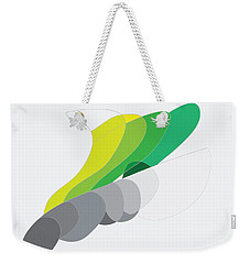 Weekender Tote Bag featuring the digital art Rock And Lichen by Kevin McLaughlin