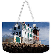 Rockland Breakwater Lighthouse Weekender Tote Bag