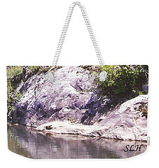 Rocks On The Bank Weekender Tote Bag