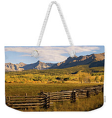 Rocky Mountain Ranch Weekender Tote Bag by Steve Stuller