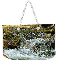 Weekender Tote Bag featuring the photograph Rocky River by Lydia Holly