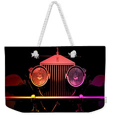 Weekender Tote Bag featuring the photograph Rolls Royce Smile by George Pedro