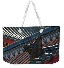 Rooftop Dragon Weekender Tote Bag by Bonnie Myszka
