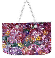 Weekender Tote Bag featuring the painting Rose Festival by Alys Caviness-Gober