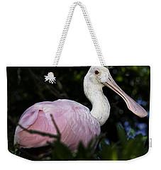 Roseate Spoonbill Weekender Tote Bag by Fran Gallogly
