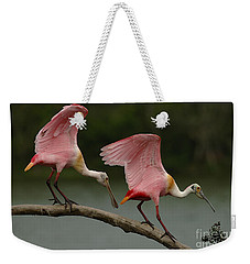 Rosiette Spoonbills Weekender Tote Bag by Bob Christopher