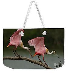 Rosiette Spoonbills Weekender Tote Bag by Bob Christopher