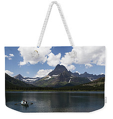Rowboat At Many Glacier Weekender Tote Bag