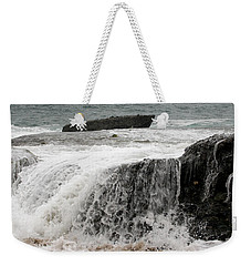 Weekender Tote Bag featuring the photograph Running Water by Karen Harrison