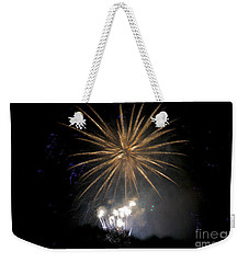 Weekender Tote Bag featuring the photograph Rvr Fireworks 1 by Mark Dodd