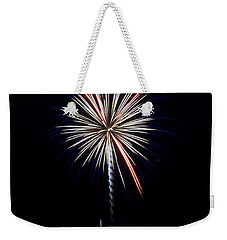 Weekender Tote Bag featuring the photograph Rvr Fireworks 11 by Mark Dodd