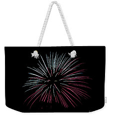 Weekender Tote Bag featuring the photograph Rvr Fireworks 15 by Mark Dodd