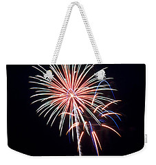 Weekender Tote Bag featuring the photograph Rvr Fireworks 16 by Mark Dodd
