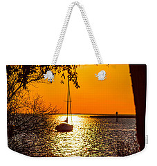 Weekender Tote Bag featuring the photograph Sail Away by Shannon Harrington