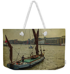 Weekender Tote Bag featuring the photograph Sailing Away... by Clare Bambers