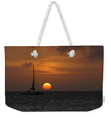 Weekender Tote Bag featuring the photograph Sailing Away by David Gleeson