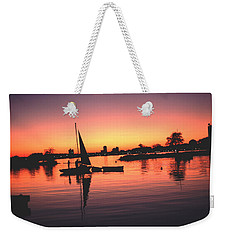 Sailing End Of The Day Backbay  Boston Weekender Tote Bag
