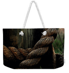 Weekender Tote Bag featuring the painting Sailor's Rope by Karen Harrison