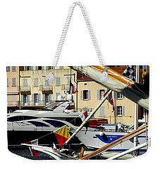 Weekender Tote Bag featuring the photograph Saint Tropez Harbor by Lainie Wrightson