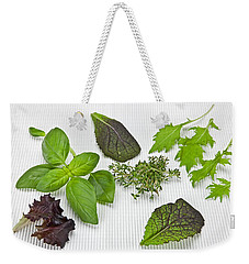 Salad Greens And Spices Weekender Tote Bag