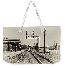 Salisbury North Carolina Depot Weekender Tote Bag by Wilma  Birdwell