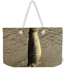 Salt Water Crocodile Weekender Tote Bag by Bob Christopher