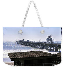 Weekender Tote Bag featuring the photograph San Clemente Pier California by Clayton Bruster