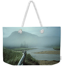 Sand Beach Fog Weekender Tote Bag by Brent L Ander
