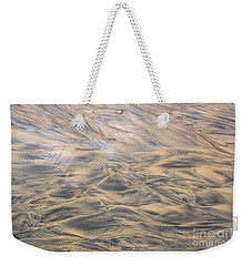 Weekender Tote Bag featuring the photograph Sand Patterns by Nareeta Martin