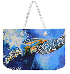 Save The Turtles Weekender Tote Bag by Warren Thompson