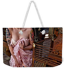 Weekender Tote Bag featuring the photograph Scared by Alice Gipson