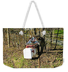 Weekender Tote Bag featuring the photograph Scary Mailbox 3 by Sherman Perry