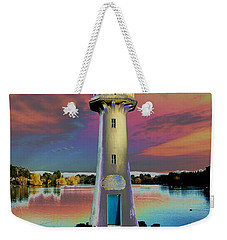 Weekender Tote Bag featuring the photograph Scott Memorial Roath Park Cardiff 4 by Steve Purnell