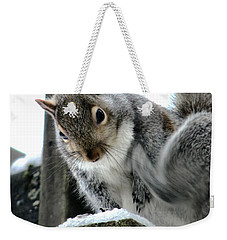 Weekender Tote Bag featuring the photograph Scratching An Itch by Rory Sagner