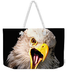 Screaming Eagle II Black Weekender Tote Bag