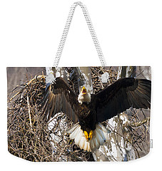 Weekender Tote Bag featuring the photograph Screaming Eagle  by Randall Branham