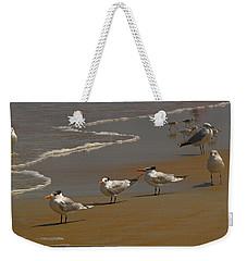Sand And Sea Birds Weekender Tote Bag