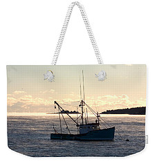 Weekender Tote Bag featuring the photograph Sea-smoke On The Harbor by Brent L Ander