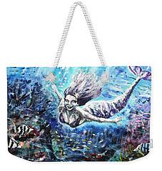 Weekender Tote Bag featuring the painting Sea Surrender by Shana Rowe Jackson