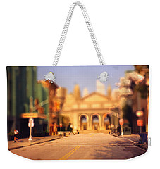 Weekender Tote Bag featuring the photograph Seaport Tiltshift by EricaMaxine  Price