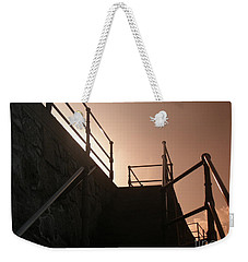 Weekender Tote Bag featuring the photograph Seaside Railings by Terri Waters