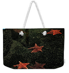 Weekender Tote Bag featuring the photograph Seastars by Karen Harrison