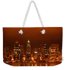 Seattle Skyline Weekender Tote Bag