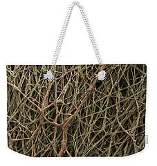 Sem Of Mycelium On Mushrooms Weekender Tote Bag by Ted Kinsman