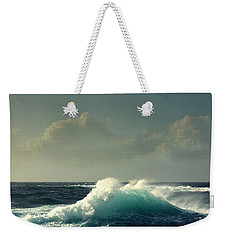 Sennen Surf Seascape Weekender Tote Bag by Linsey Williams