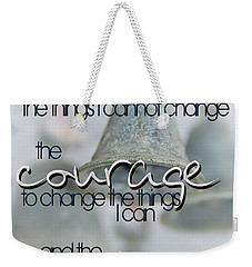 Weekender Tote Bag featuring the photograph Serenity Prayer With Bells by Vicki Ferrari