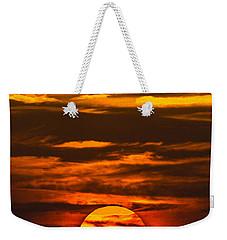 Setting Sun Flyby Weekender Tote Bag