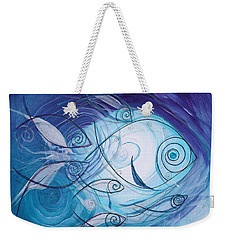 Seven Ichthus And A Heart Weekender Tote Bag
