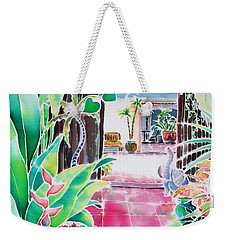 Shade In The Patio Weekender Tote Bag